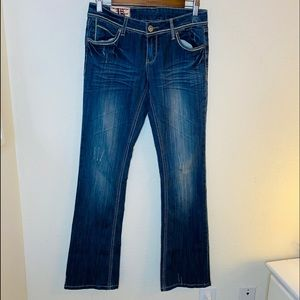 1st Kiss Boot Cut Low Rise  Jeans Size:2